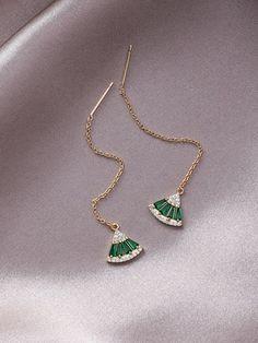perle de jade vert pendants Parures Vogue tête de dragon