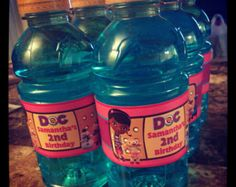Doc McStuffins Water Bottle Labels -Printable Birthday Party Favors