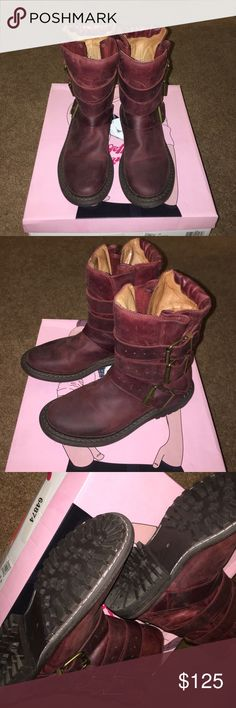 Jeffrey Campbell boots sz 6 Distressed burgundy leather boots sz 6. Wore once. No trades. Great condition, practically new. Comes with original box. Jeffrey Campbell Shoes Combat & Moto Boots