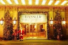 Grand Entrance To Hotel Hassler Roma! So many perfect Christmas holidays spent here! :)