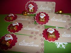 """6 kleine Gastgeschenke zu Weihnachten Tischdeko von """"Schönes aus Stempel und Papier"""" auf DaWanda.com"""