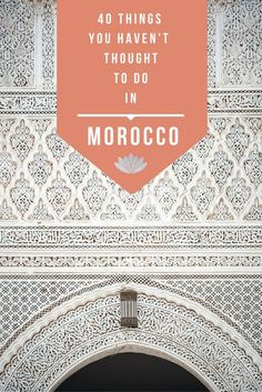 There's a lot to do in Morocco but chances are you've only heard of the same things over and over again. Today, that's going to change because I'm sharing 40 things you haven't thought of doing when you visit Morocco! Visit Marrakech, Visit Morocco, Morocco Travel, Africa Travel, Marrakech Morocco, Marrakech Travel, Vietnam Travel, Stuff To Do, Things To Do