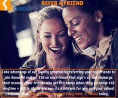 Earn FREE minutes by referring your friends and family to SonarTel.  To Get Started click-
