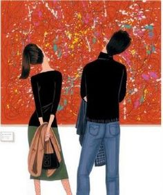 illustration by Jordi Lavanda Edward Hopper, Claire Keane, Citation Art, Illustration Mode, Couple Illustration, Girly, Painting Patterns, Fashion Sketches, Fashion Sketchbook