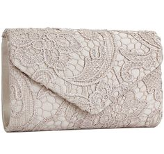 Jubileens Women's Elegant Floral Lace Envelope Clutch Evening Prom Handbag Purse *** Special  product just for you. See it now! : Handbags