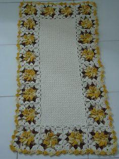 Tapete crochê flor catavento