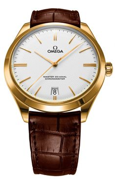 Omega the De Ville Trésor Upgraded Yellow gold on leather strap 432.53.40.21.02.00