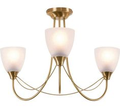 Buy HOME Symphony 3 Light Ceiling Fitting - Antique Brass at Argos.co.uk, visit Argos.co.uk to shop online for Ceiling and wall lights, Lighting, Home and garden