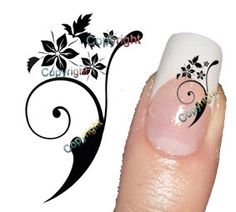 40 Nail Art Flower 055  Decal sticker Tattoo Nail Art by Tarlidada, $3.00 Nail Tattoos, Nail Stickers, Decal, Make Up, Nail Art, Flower, Nails, Unique Jewelry, Handmade Gifts