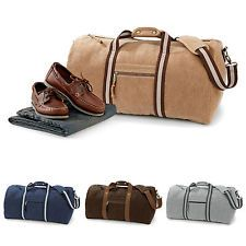 3870ee3b19 Duffle Bag Retro Vintage Canvas Holdall Gym Hand Luggage Weekend Overnight  Bag Vintage Canvas