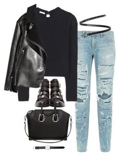 """Sem título #4907"" by fashionnfacts ❤ liked on Polyvore featuring rag & bone, Miu Miu, Yves Saint Laurent, Givenchy and Daniel Wellington"