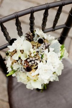 Love the colors and shapes in this bouquet