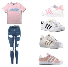 """""""Untitled #208"""" by alyssa-irving27 ❤ liked on Polyvore featuring WithChic, adidas Originals, adidas and Topshop"""