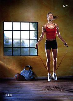 10 minutes of jumping rope is equal to 30 minutes of running at a 5.7mph pace. Jumping rope is one of the best ways to get in shape!