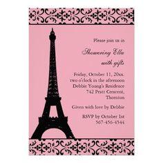 Tres Paris Bridal Shower (pink) Card