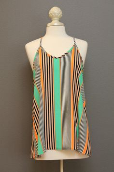 Racer Back Striped Tunic Style Tank – The Dressing Vroom