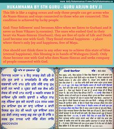 SECRET TO ETERNAL HAPPINESS by Guru Arjun Dev ji    One should not think there is any other way to achieve this state of bliss (eternal happiness), this blessing is in hands of Waheguru (God). Only those become one with God who does Naam-Simran and seeks company of people connected with God.    Read more: http://dailyhukamnama.ca/secret-to-eternal-happiness-feb-10-page-813-814/