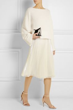 Marc by Marc Jacobs | Cluster Cellophane pleated iridescent organza skirt | NET-A-PORTER.COM