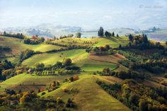 Autumn time by Ioan Chiriac - the view over Poiana Marului from Brasov County, Romania.