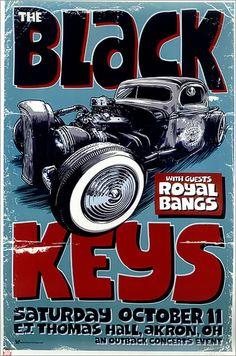 The Black Keys - Daymon Greulich. #Music #gigposters #artwork #musicart #theblackkeys http://www.pinterest.com/TheHitman14/music-poster-art-%2B/