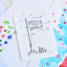 12/31 - FLAG for #flpinktober . . . . . . #inktober #inktober2018 #inktoberchallenge #indiaink #flag #cute #cuteillustration #hahnemühle #carveouttimeforart #calledtobecreative #dsart #pursuepretty #thenativecreative #art_we_inspire #artfinder #artjournal #creativelifehappylife #creativelife #createeveryday #livecreatively #makersmovement #craftsposure #creativityfound #instaart #creativechics #createlounge #creativesofinstagram #creativehappylife #designisinthedetails India Ink, Cute Illustration, Inktober, Flag, Challenges, Bullet Journal, Inspire, Instagram, Art