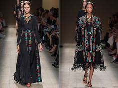 How many ways can you use the same color pallet and pattern and make something new to the eye? Valentino knows the answer