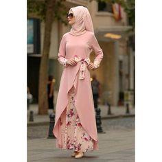 Women Floral Printed Long Sleeve Abaya Muslim Dress Without Hijab - Dress Honey Abaya Fashion, Muslim Fashion, Modest Fashion, Fashion Dresses, Trendy Fashion, Fashion Women, Hijab Dress Party, Hijab Style Dress, Chic Dress