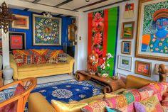 Multi-coloured room