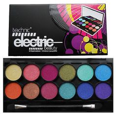 Technic Electric Eyes 12 Colour EyeShadow Palette Bright Colours 5021769215059 | eBay