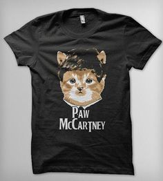 Paw McCartney T-Shirt | Printed on American Apparel's 50/50 Shirt. Available in unisex... | T-Shirts