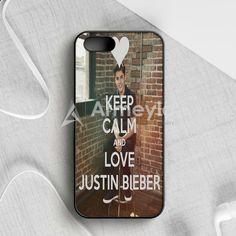Keep Calm And Love Justin Bieber iPhone 5|5S|SE Case | armeyla.com