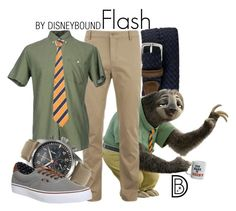 """Flash"" by leslieakay ❤ liked on Polyvore featuring Al Duca d'Aosta, Lacoste, Prim I Am, Alpina, Vans, men's fashion, menswear, disney, disneybound and zootopia"