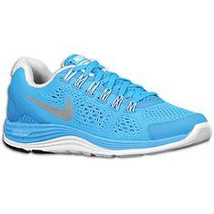 Nike LunarGlide + 4 - Women\u0026#39;s - Blue Glow/Blue Tint/Reflect Silver