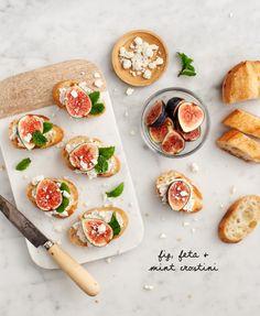Fig, Feta & Mint Crostini / loveandlemons.com