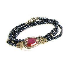 Nan+Fusco+Sapphire+Diamond+Triple+Wrap+Bracelet/Ne+by+Nan+Fusco+