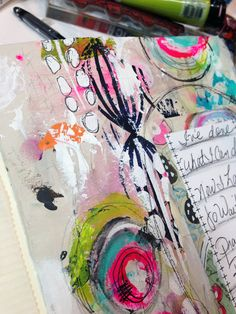 Roben-Marie art journal page video