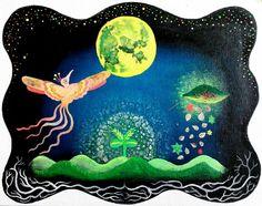 full moon -phenix and UFO-