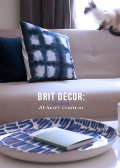 Brit Decor : Home Page: Brit Decor Makes: Shibori Cushion