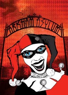 Harley Quinn Selfie. Digital mixed media by Damian K. Sheiles.
