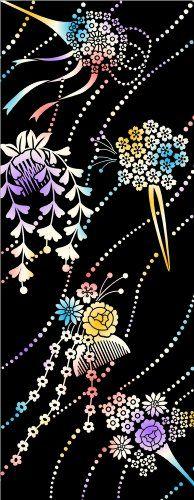 PRAIRIEDOG WAFUKA Tenugui Chusen Tsumami Kanzashi and Flowers Japanese Fabric, Japanese Prints, Floral Fabric, Cotton Fabric, Flower Designs, Traditional, Japanese Fashion, Flowers, Pattern