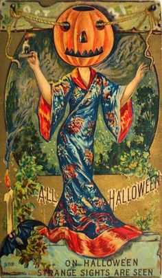 vintage everyday: A Collection of 13 Odd and Strange Vintage Halloween Postcards