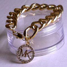 Chunky Link Bracelet with MK Charm
