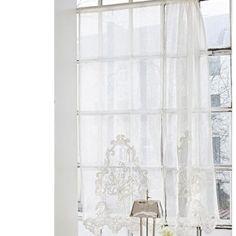 gardine lesbaux aus leinen wohnen pinterest gardinen leinen und gardinen und vorh nge. Black Bedroom Furniture Sets. Home Design Ideas