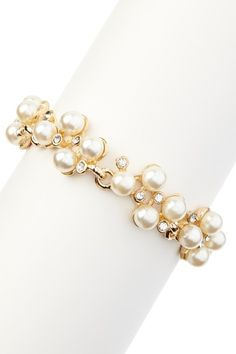 Luxe Pearl Bracelet by t+j Designs on @HauteLook
