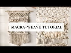 How To: Macra-Weave Tutorial. Hey friends, In todays video I show you how I make a macrame-weaving. Macrame cord options: Home Depot: . Macrame Wall Hanging Patterns, Macrame Patterns, Woven Wall Hanging, Weaving Patterns, Weaving Art, How To Do Macrame, Macrame Cord, Home Depot, Macrame Design
