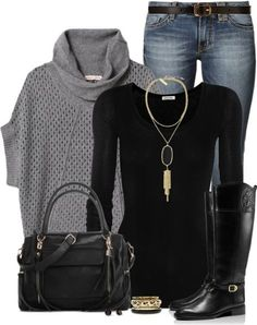 Cozy Cowl Neck Sweater Casual Fall Outfit | Outfits Pedia