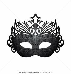 stock vector : Vector illustration carnival mask isolated on white background.