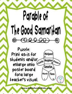 The Good Samaritan Jumbo Cut-outs by LatterdayChatter on Etsy |The Good Samaritan For Preschoolers