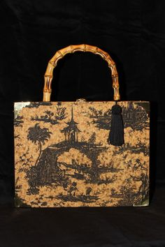 Asian Inspired Gold and Black Toile Cigar Box Purse Cigar Box Projects a5182fee8822b