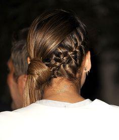 Jessica Alba's Braided Side Ponytail
